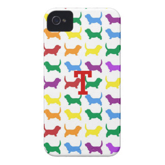 Colorful Dog Silhouette iPhone 4 Case