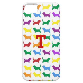 Colorful Dog Silhouette iPhone 5 Case