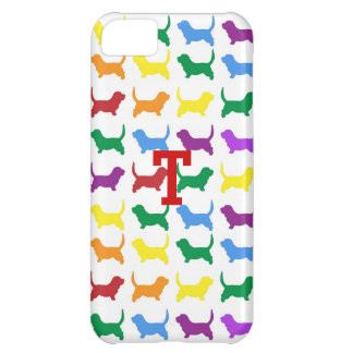 Colorful Dog Silhouette iPhone 5c Case