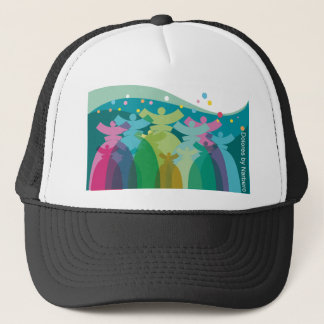 colorful Dolores  on cap