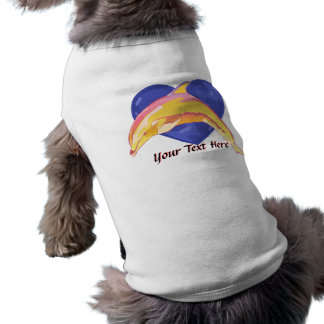 Colorful Dolphin Dog Shirt