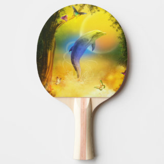 Colorful Dolphin Ping-Pong Paddle