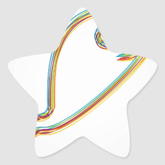 Colorful Dolphin Star Sticker