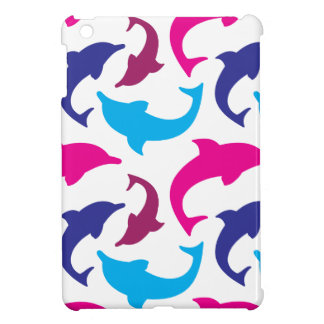 Colorful Dolphins Pattern Hot Pink Teal Blue Cover For The iPad Mini