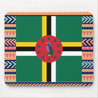 Colorful Dominica Flag Box Mouse Pad