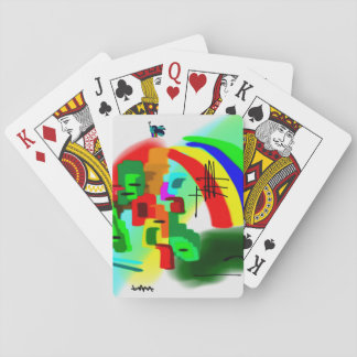 colorful donkey and rainbow playing cards