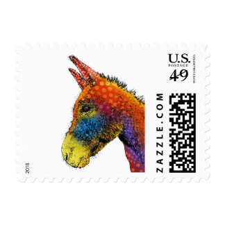 COLORFUL DONKEY - US Postage Stamps