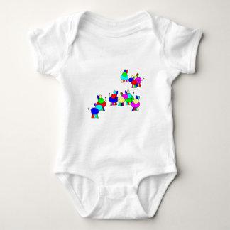 colorful donkeys.png baby bodysuit