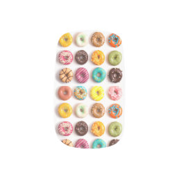 Colorful Donut Nails Minx Nail Wraps