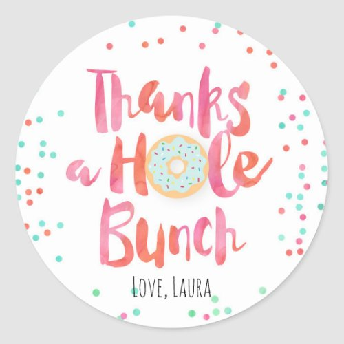Colorful Donut Thank You Stickers
