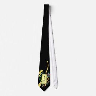 Colorful doodle art tie