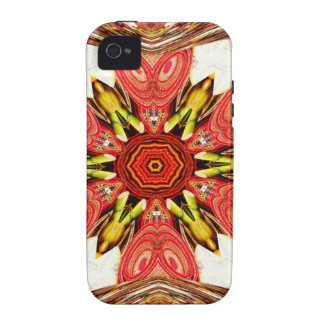 Colorful doodle flora  heart seamless star.jpg Case-Mate iPhone 4 case