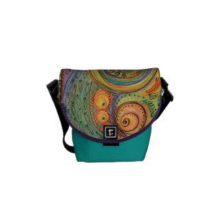 Colorful Doodle Mini Messenger Bag