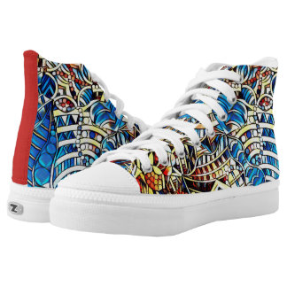 COLORFUL DOODLES High-Top SNEAKERS