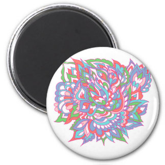 Colorful doodles pattern magnet
