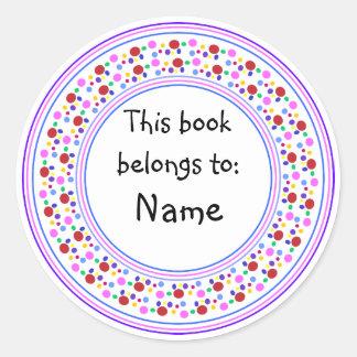 Colorful dot design bookplate