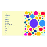 Colorful dot design Double-Sided standard business cards (Pack of 100)