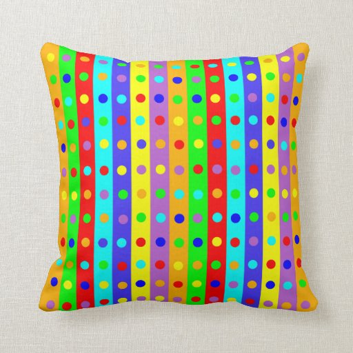 Throw Pillow Design Patterns : Colorful Dot Pattern Throw Pillow Zazzle