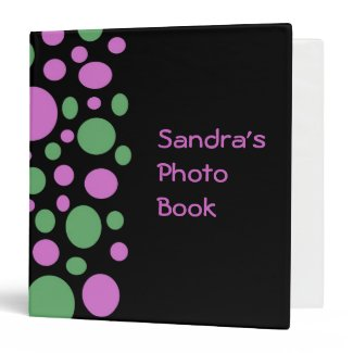 colorful dots 3 ring binders