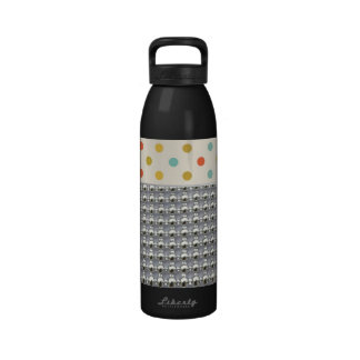 Colorful Dots And Beads Pattern Reusable Water Bottle
