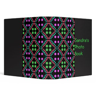 colorful dots binders