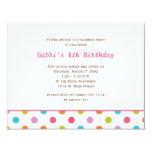 "Colorful Dots Birthday Invitations 4.25"" X 5.5"" Invitation Card"