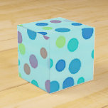 Colorful dots blue favor box