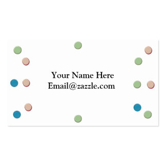 Colorful Dots Business Card Template