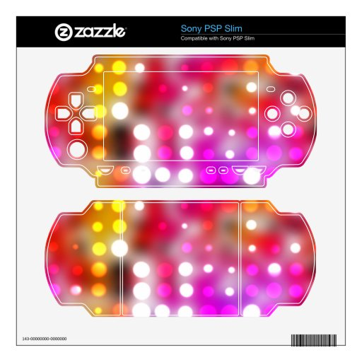 Colorful dots decal for the PSP slim