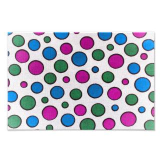 Colorful dots fabric art photo
