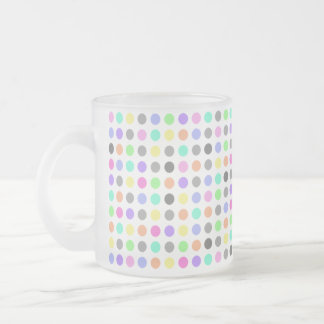 COLORFUL DOTS Frosted Glass Mug