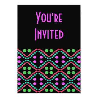 Colorful dots 5x7 paper invitation card