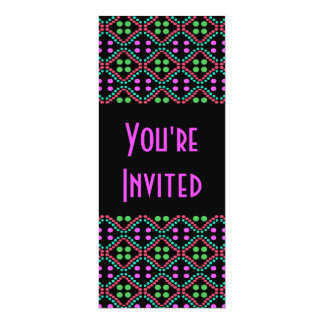 Colorful dots 4x9.25 paper invitation card