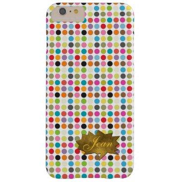 Colorful Dots iPhone 6 Plus Custom Monogram Case
