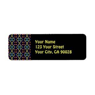 colorful dots label