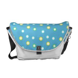 Colorful Dots Messenger Bag rickshawmessengerbag