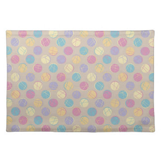 Colorful dots modern retro chic beige place mat mantel
