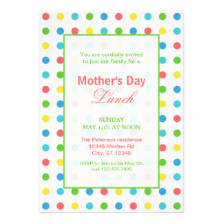 Colorful Dots Mother's Day Invitation