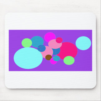 Colorful dots mouse pad