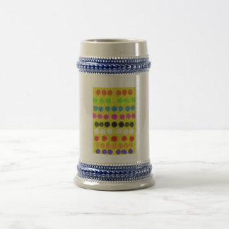 Colorful Dots 18 Oz Beer Stein