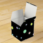 Colorful Dots on Black Party Favor Box