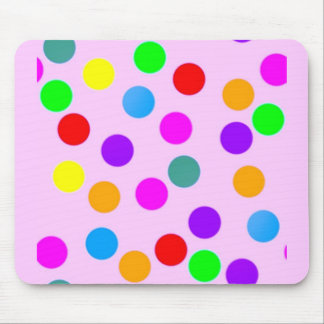 colorful_dots_on_pink mouse pad