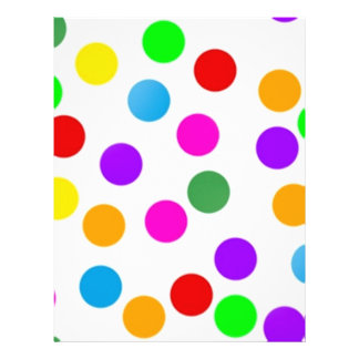"""colorful_dots_on_white folleto 8.5"""" x 11"""""""