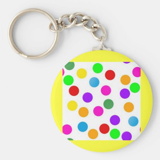 colorful_dots_on_white key chains