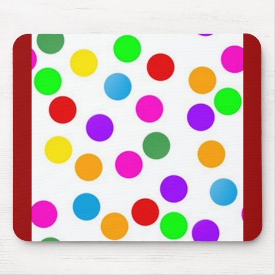 colorful_dots_on_white mouse pad