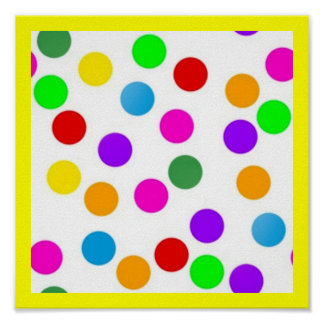 colorful_dots_on_white posters