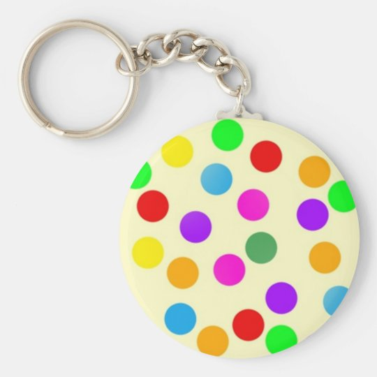 colorful_dots_on_yellow keychain