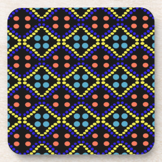 colorful dots pattern design coaster