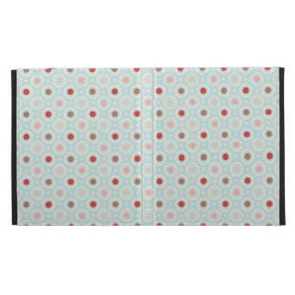 Colorful Dots Pattern iPad Folio Case