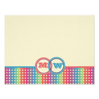 Colorful Dots Personalized Stationery Custom Invites